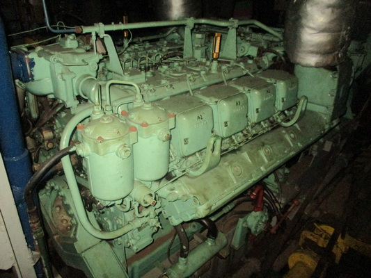 MTU 8V 396 Used Genset 1pc Serial no: 556738 590 kW 1500 rpm