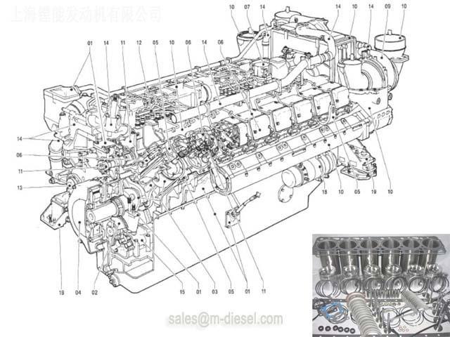 5800302501 MTU 20V956 Crankshaft - MTU 20V956 - MTU ENGINE PARTS