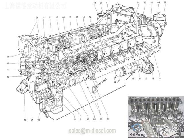 5840101420 MTU 20V956 Cylinder Head - MTU 20V956 - MTU ENGINE PARTS