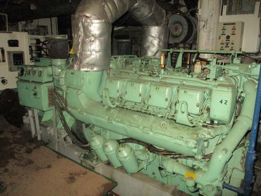 MTU 8V396 generator set 590 kW, 1500 rpm