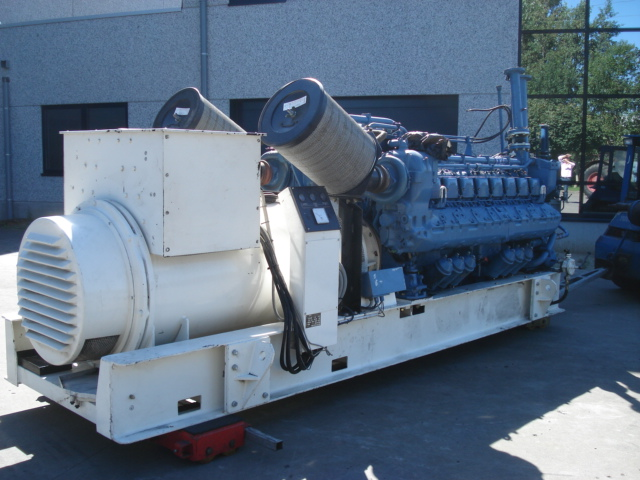 MTU 16V396 Genset 1pc MTU used engine 16V396 Generator set